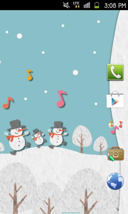 HAPPY SNOWMANS Themeのスクリーンショット_5