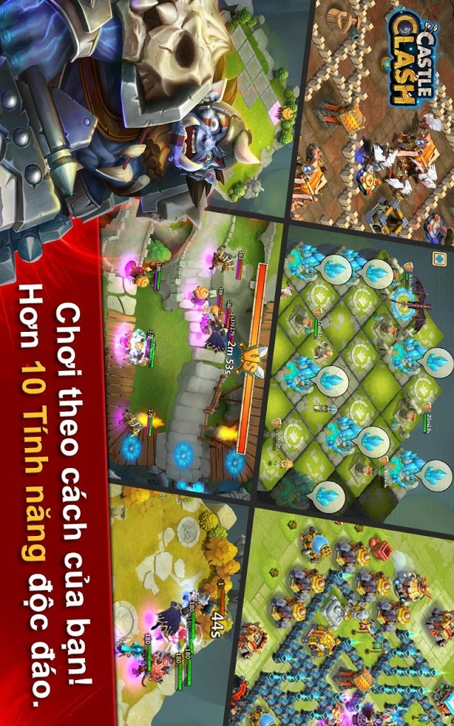 Castle Clash: Đế Chế Anh Hùngのスクリーンショット_1