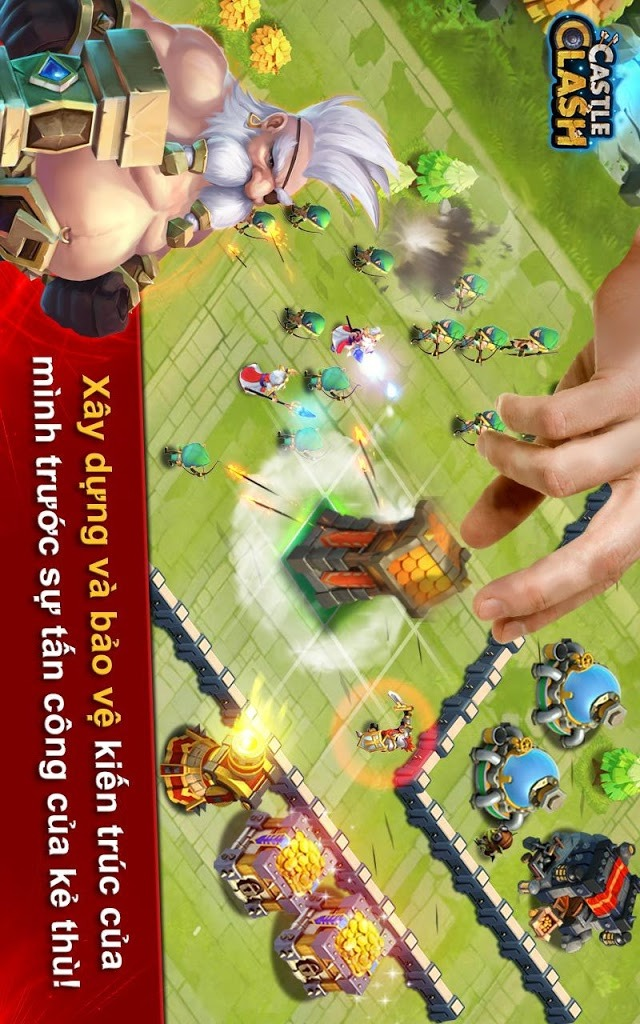 Castle Clash: Đế Chế Anh Hùngのスクリーンショット_2