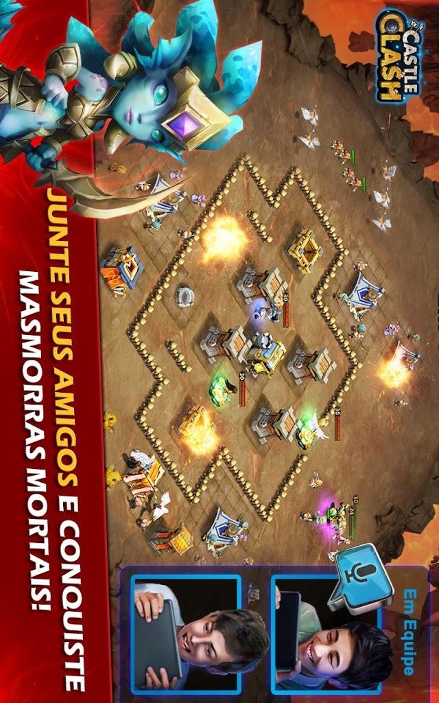 Castle Clash: A Era das Lendasのスクリーンショット_4
