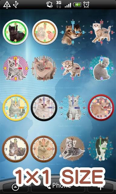 猫アナログ時計ウィジェット・目覚まし時計アラームのスクリーンショット_1