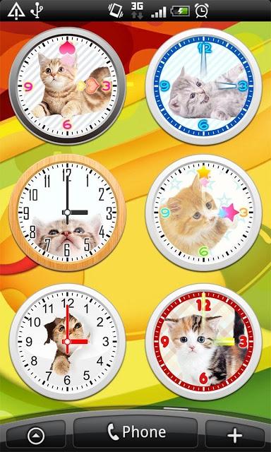 猫アナログ時計ウィジェット・目覚まし時計アラームのスクリーンショット_2