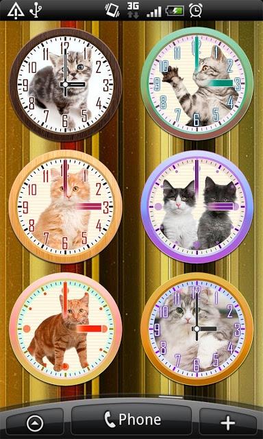猫アナログ時計ウィジェット・目覚まし時計アラームのスクリーンショット_4