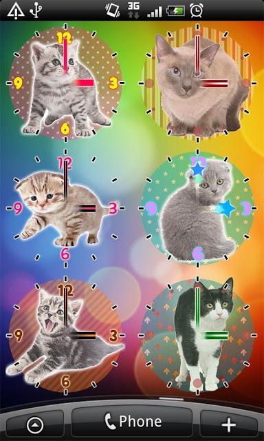 猫アナログ時計ウィジェット・目覚まし時計アラームのスクリーンショット_5