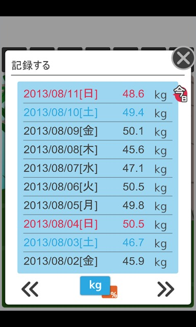 チビケモノとダイエット -シンプル体重管理-のスクリーンショット_3