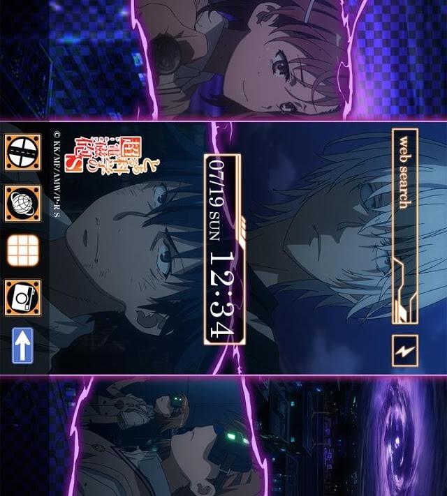 とある科学の超電磁砲S(アニメ)きせかえテーマ9のスクリーンショット_1