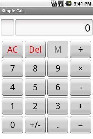 シンプル電卓のスクリーンショット_1
