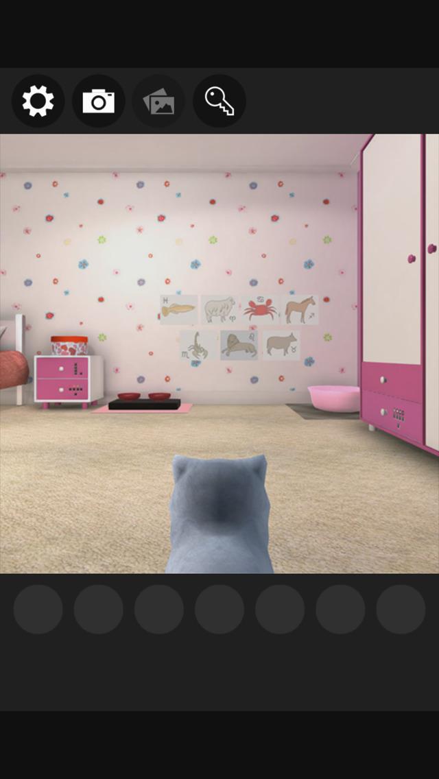 脱出ゲーム 謎解きにゃんこ5 ~小さな女の子の部屋~のスクリーンショット_1