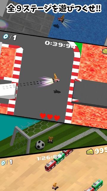 にゃんちゅうカート〜マリカー風の無料3Dドットレースゲームのスクリーンショット_1