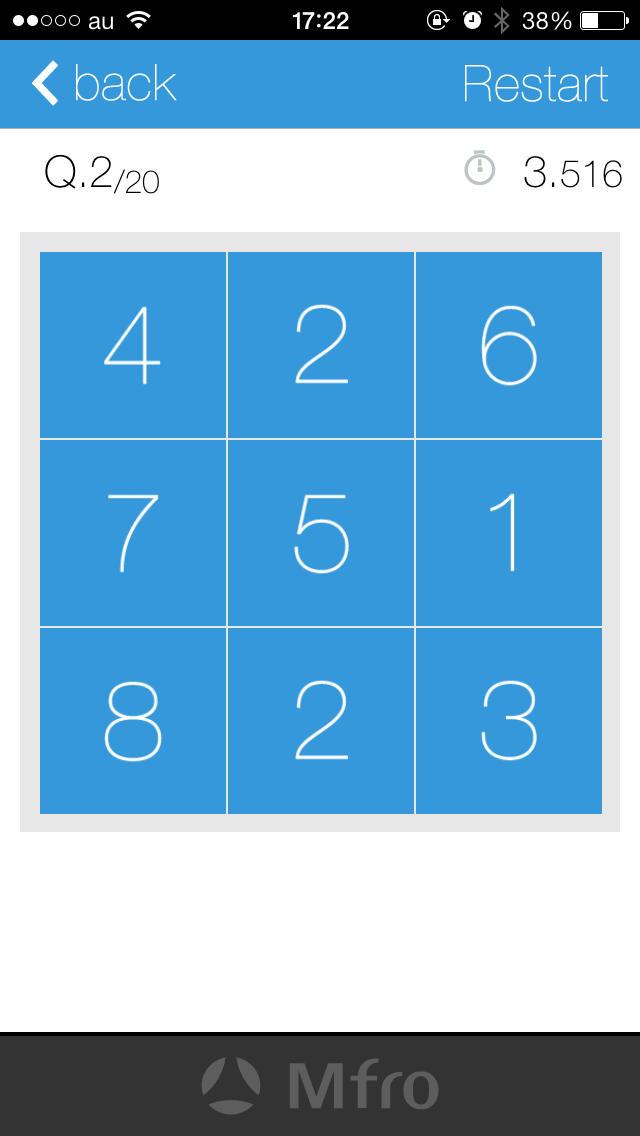 Same number - 9つの数字から同じ数字を選ぶだけのシンプル脳トレパズルゲーム 集中力を高めて脳を活性化のスクリーンショット_2