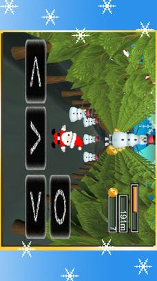 サンタクロースVS雪だるま - クリスマスのジャンプゲームのスクリーンショット_1