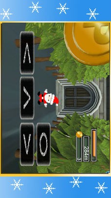 サンタクロースVS雪だるま - クリスマスのジャンプゲームのスクリーンショット_2
