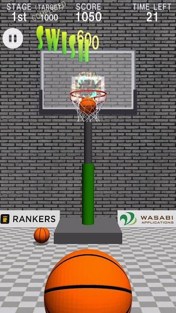 Swish Shot! - バスケットボールシュートゲームのスクリーンショット_1