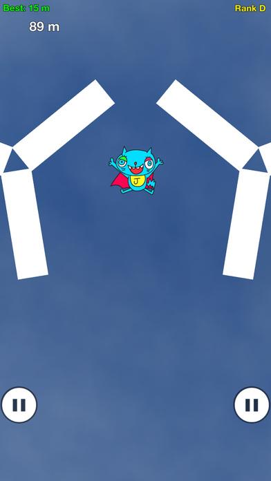 ねこっとび:指の限界に挑む無料のタップアクションゲームアプリのスクリーンショット_1