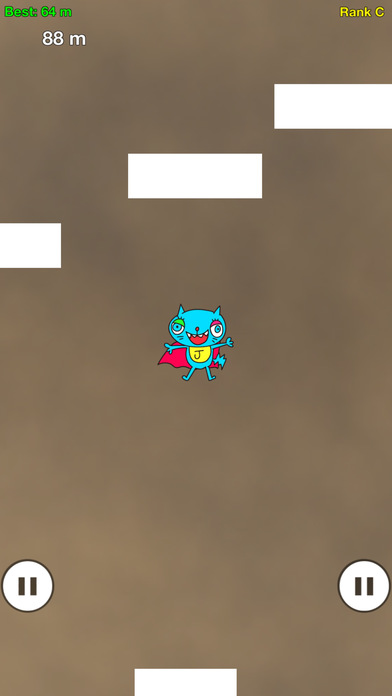 ねこっとび:指の限界に挑む無料のタップアクションゲームアプリのスクリーンショット_3