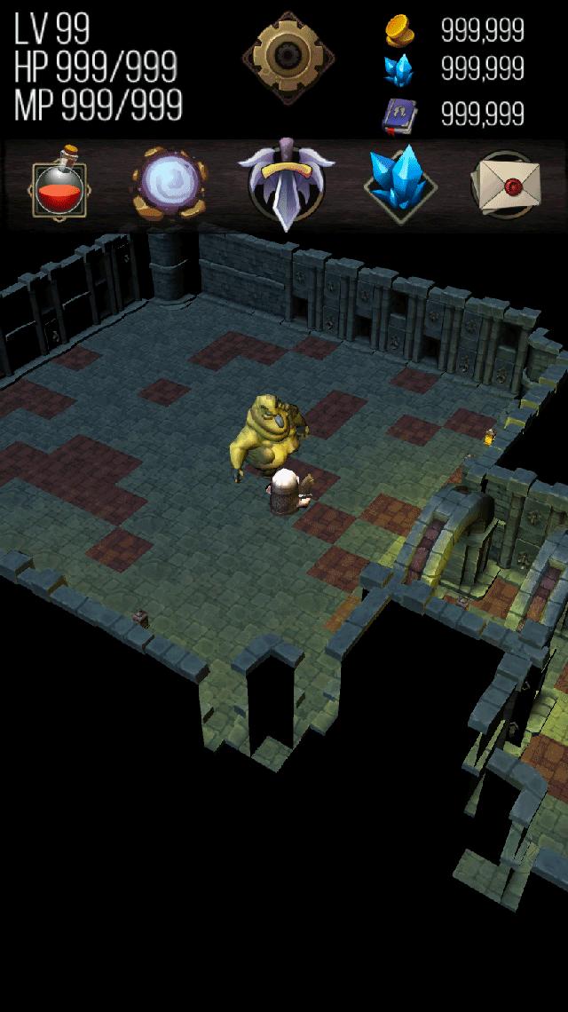 ダンジョン クエスト / 無料ゲーム暇つぶしRPGのスクリーンショット_1