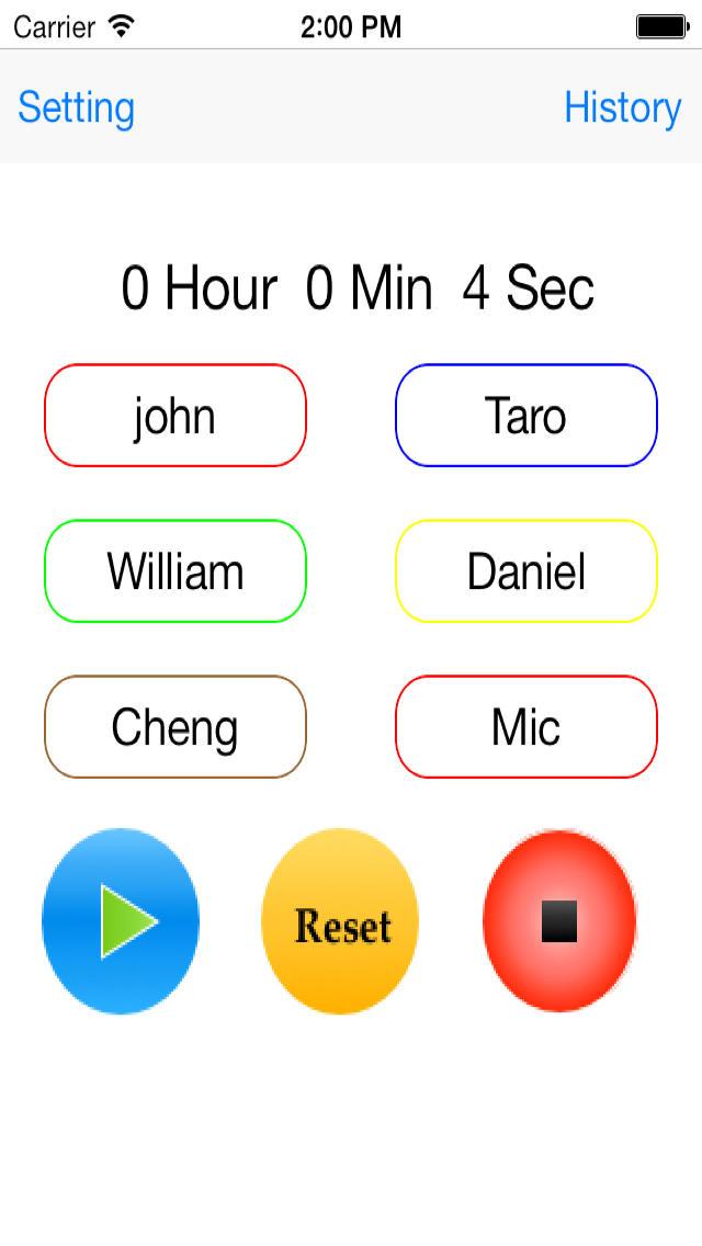 タイムキーパー 複数人用のスクリーンショット_2