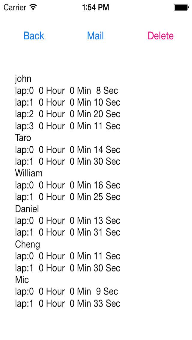 タイムキーパー 複数人用のスクリーンショット_4