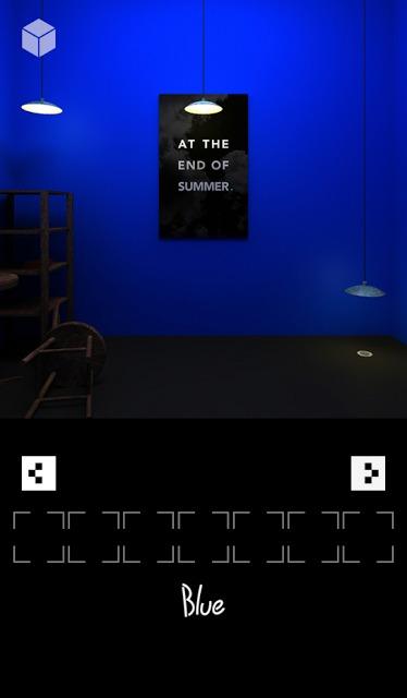 脱出ゲーム「ブルー」のスクリーンショット_3