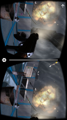 VR FPS in Space for Google CardBoardのスクリーンショット_4