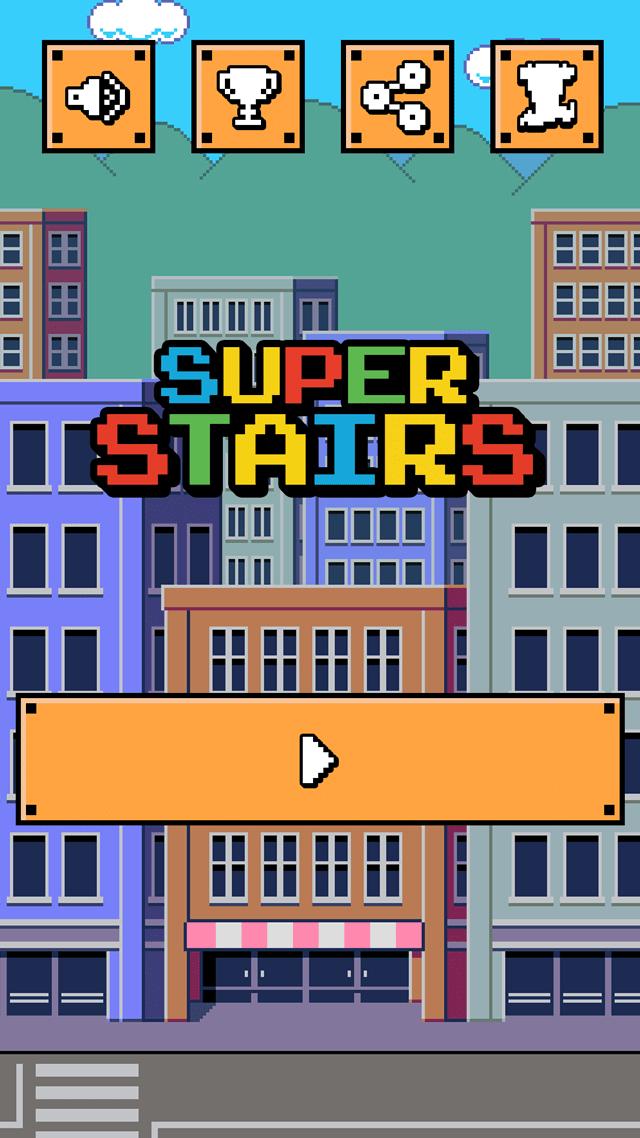 無料アクションゲーム「スーパー階段ダッシュ」のスクリーンショット_3