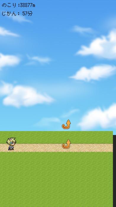 激走勇者 - シンプル・簡単なワンタップ無料アクション ゲームのスクリーンショット_1