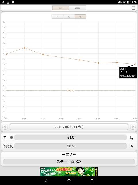体重ウォッチ 体重管理/体脂肪管理 体重計のお供にのスクリーンショット_5