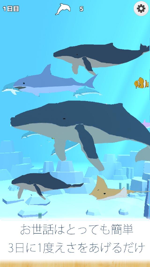 クジラ育成ゲーム-完全無料まったり癒しの鯨を育てる放置ゲームのスクリーンショット_3