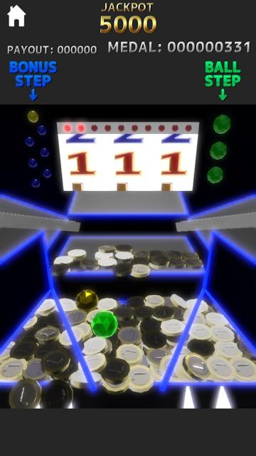 メダルゲーム Luminous Pusherのスクリーンショット_1