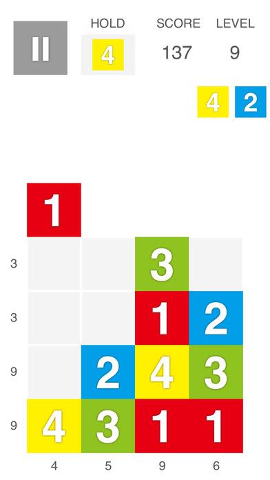 XTRIS - テントリス  [ 新感覚な計算パズルゲーム ]のスクリーンショット_1