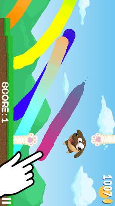 Bouncy Doggy -お絵かきアクションゲームのスクリーンショット_1