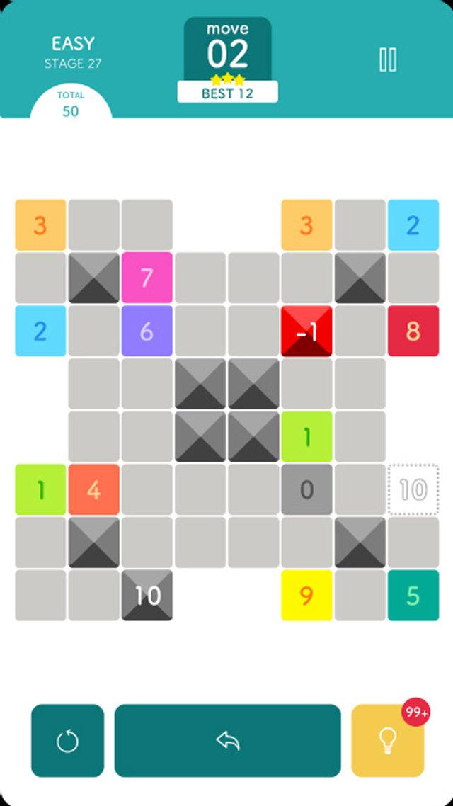 頭が良くなるスライド パズル ゲーム 10 (TEN)のスクリーンショット_1
